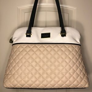 Betsey Johnson Tan and Beige Large Dome Satchel